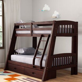 Viv Rae Winifred Full Panel Bed With Trundle Wayfair Bunk Beds With Storage Full Bunk Beds Bunk Beds