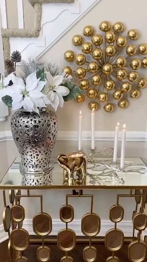 Easy Christmas Decorations, Christmas Centerpieces, Diy Crafts For Home Decor, Diy Crafts To Sell, Home Room Design, Home Interior Design, Simple Christmas, Christmas Crafts, Table Decor Living Room