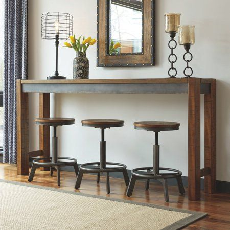 Signature Design By Ashley Torjin 72 In Long Counter Height Console Table Walmart Com In 2020 Pub Table Pub Set Bar Table