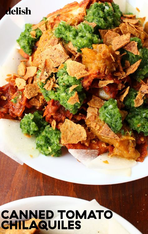 Chilaquiles are a perfect way to use up leftover tortillas and salsas.