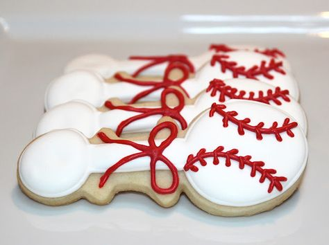 baseball rattle cookies for a baby shower