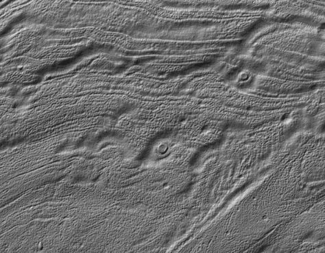 Part of the floor of Reull Vallis, a valley east of Hellas Basin on Mars. Picture taken by Mars Global Surveyor. Credit: NASA/JPL/Malin Space Science Systems