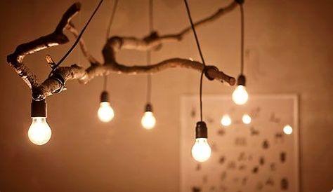 Tree Chandelier | Diy light fixtures, Tree lighting, Diy