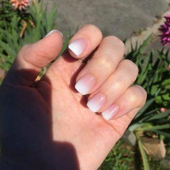 Image Result For Ombre French Manicure Acrylic In 2020 French Manicure Nails Powder Nails Nail Manicure