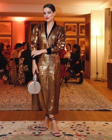 #vestido #dourado #moda #look #festa #roupadegala #dicademoda | 📸 @mariah