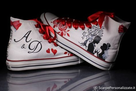 Scarpe Personalizzate Sposa.Scarpe Personalizzate Matrimonio Sposa Sposo Scarpe