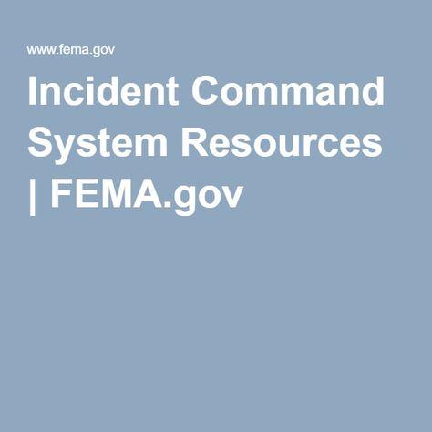 Incident Command System Resources   FEMA.gov