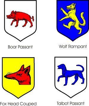 Sea Fox Heraldry , Free Transparent Clipart - ClipartKey