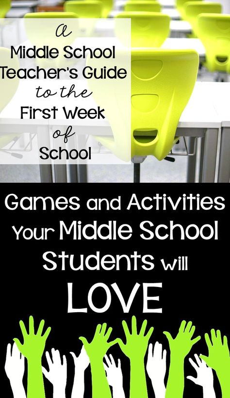 A Middle School Teacher's Guide to the First Week of School