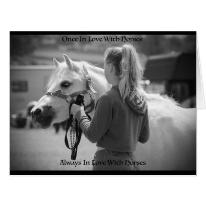 Once In Love With Horses Card Girl Gifts Special Unique Diy Gift