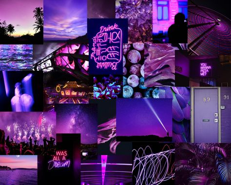 Neon Purple Collage Kit