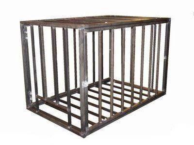 kinkykink | Steel Puppy Cage | Extreme Restraints #bdsm