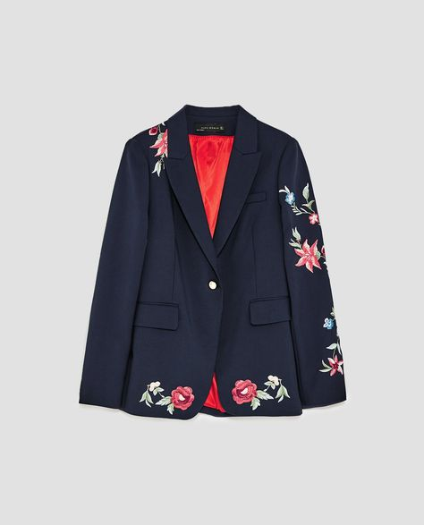 Image 8 of EMBROIDERED BLAZER from Zara