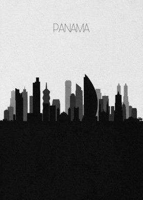 Destination Panama Landscapes Poster Print Metal Posters Landscape Poster Poster Prints City Skyline Art