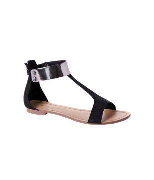 Flat sandals black Promod | Sandalias negras, Sandalias
