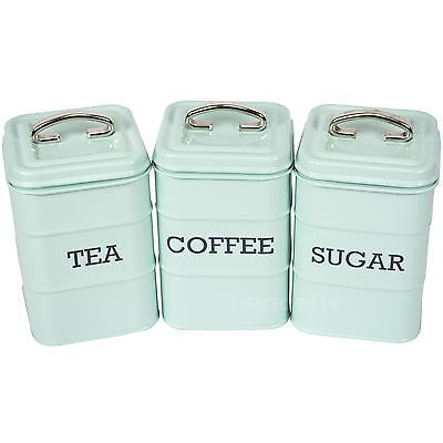 3D SET OF 3 CANISTER JAR TREAT SNACKS COOKIE 17CM KITCHEN GIFT COFFEE SUGAR TEA