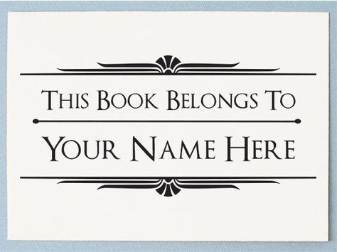 magasiner pour authentique mode designer plus grand choix de Personalized Custom Name Crafted This Book Belongs to ...