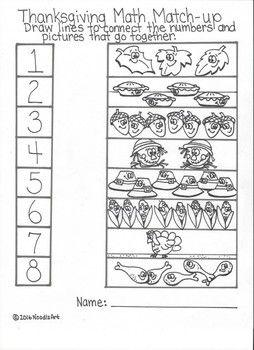 Thanksgiving Math Worksheets For Kindergarten Fun Thanksgiving Math Worksheets Thanksgiving Math Math Worksheets