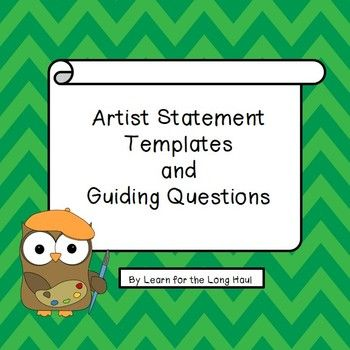 Cute Artist Statement Templates TPT Pinterest Statement - Statement Templates