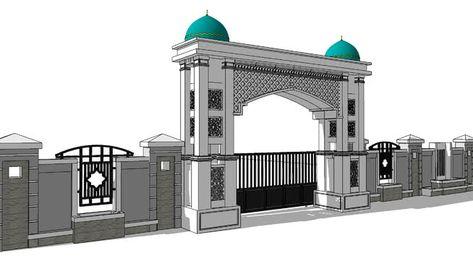 Gapura Masjid Minimalis Terbaru Gambar Desain Gapura Masjid Minimalis Rumah Joglo Limasan Work