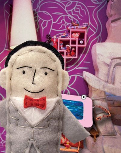 Pee Wee Herman Finger Puppet. via Etsy.