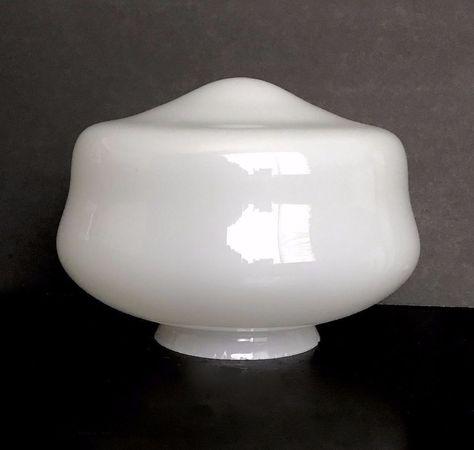 Vintage White Milk Glass Round Globe Ceiling Light Shade