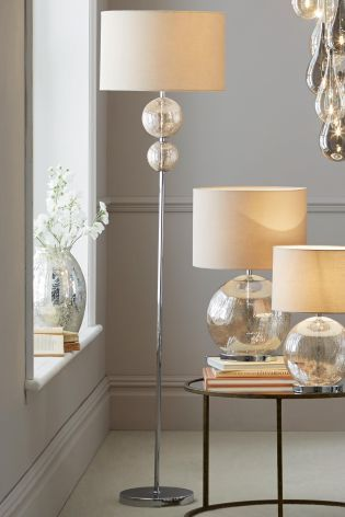 Buy Mink Crackle Large Table Lamp from the Next UK online shop ...