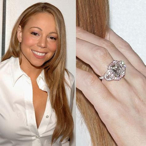 mariah carey mariah careys engagement ring is the epitome of a girly engagement ring this 25 million dollar ring given by nick cannon features - Mariah Carey Wedding Ring