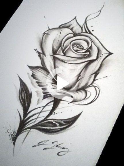 25 Trendy Bloemen Tekening Tattoo Sketches Roses Tatouage Rose Dessin Tatouage De Rose Dessin Au Crayon