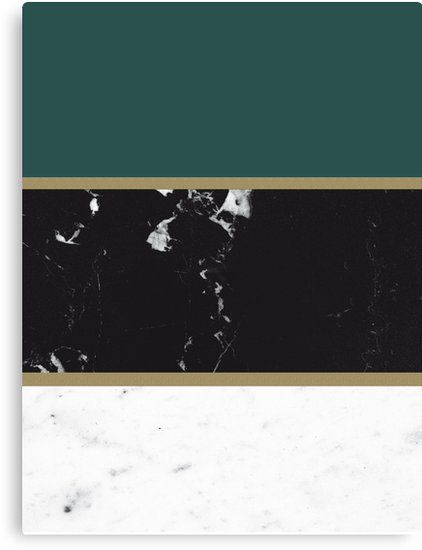 Marble Mix Stripes 4 Black White Green Gold Decor Art Canvas Print By Anitabellajantz Black Gold Office Green Office Decor Green Accent Walls