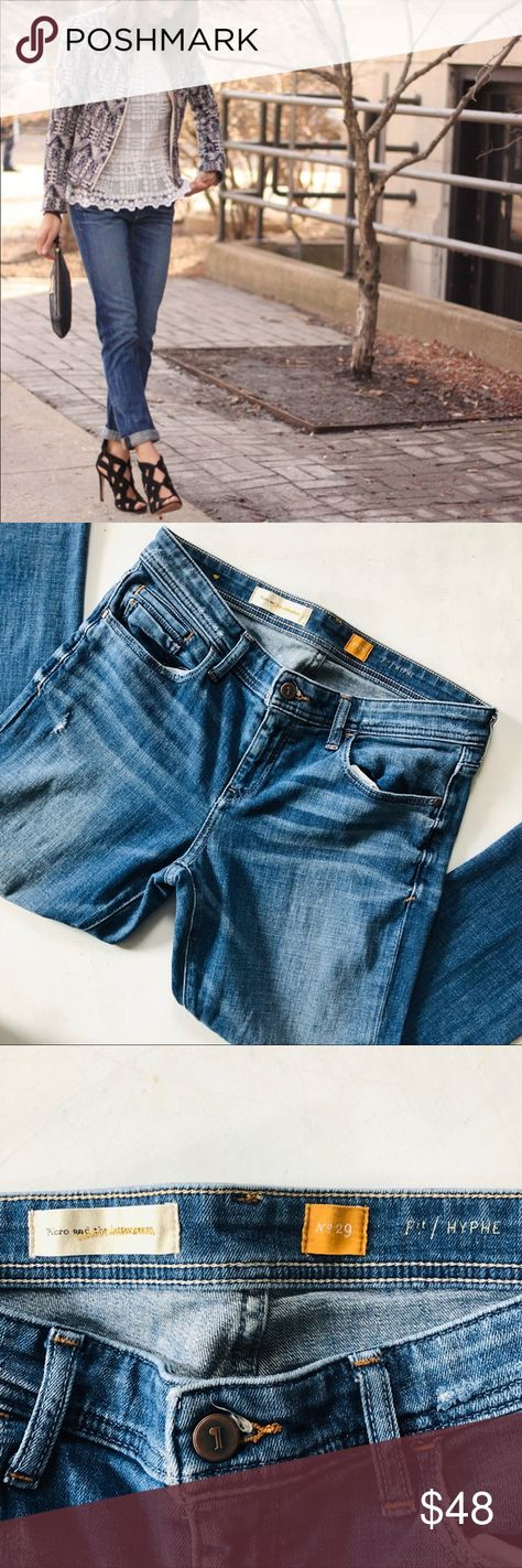 Anthropologie Pilcro And Letterpress Womens Jeans Size 29 Hyphen Blue Distressed