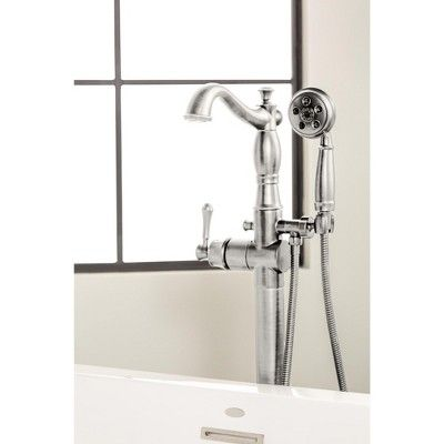 Delta Faucet T4797 Fl Lhp Cassidy Floor Mounted Tub Filler With
