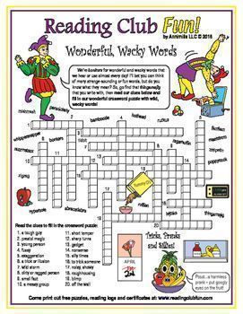 April Fools Day A Fun Crossword Puzzle Filled With Wonderful Wacky Words Silly Words Funny April Fools Pranks April Fools Pranks