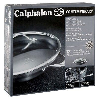 Calphalon Contemporary 12 Inch Non Stick Dishwasher Safe Everyday Pan With Cover Calphalon Contemporary Calphalon Dishwasher Cover