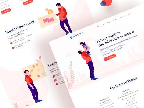 GlobalExpats Insurance Web UI Design