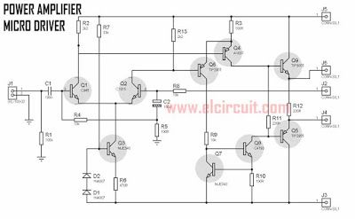 Power Amplifier Micro Driver Power Amplifiers Audio Amplifier Electronic Circuit Projects