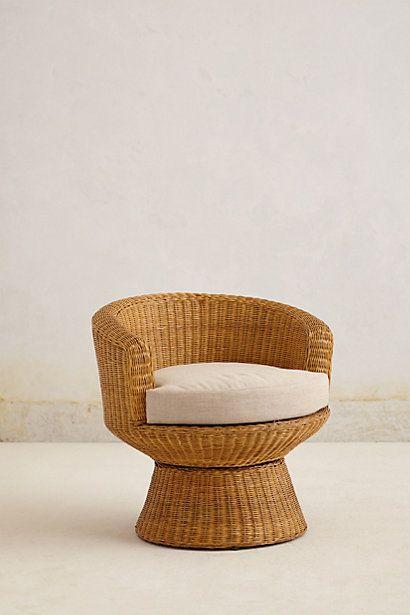 Pedestal Wicker Chair #anthropologie | Home - Furniture | Pinterest ...