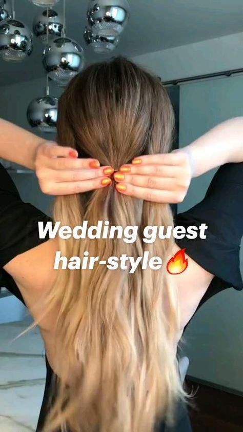 Wedding guest hair-style🔥