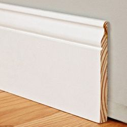 5 1 4 Tall Traditional Profile Real Wood Baseboard Primed 1 19 Per Square Foot Direct Source Flooring Baseboard Styles Wood Baseboard Baseboards