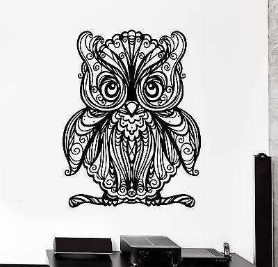Wall Decal Owl Baby Bird Ornament Tribal Mural Vinyl Decal (z3183)