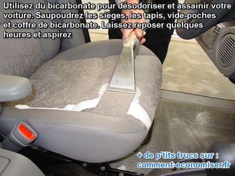 Nettoyer et assainir fauteuils, tapis, intérieur de voiture... avec du bicarbonate