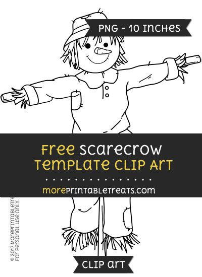 Free Scarecrow Template Clipart Clip Art Digital Media Projects Scarecrow