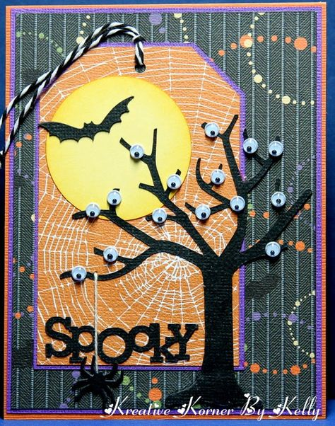 DIY: Awesome Halloween Tags Design Pictures - Stampin' up - halloween cards Halloween Tags, Fröhliches Halloween, Halloween Scrapbook, Holidays Halloween, Halloween Decorations, Halloween Pictures, Handmade Halloween Cards, Cricut Halloween Cards, Halloween Quotes
