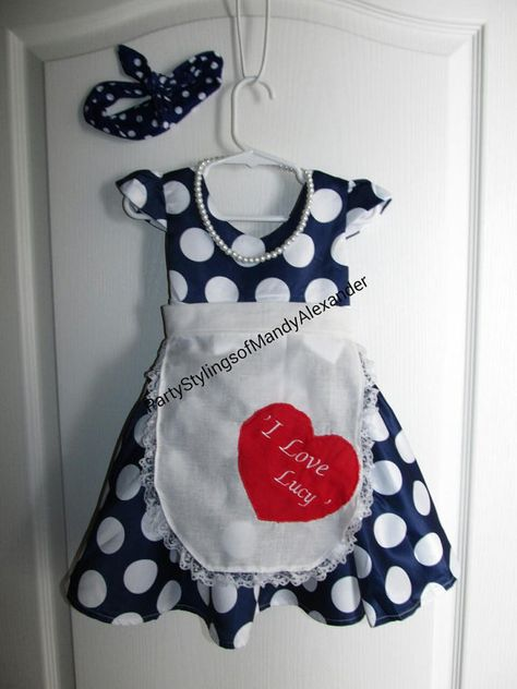 $54 etsy Girls I Love Lucy Costume Halloween Retro by PartyStylingsofMandy