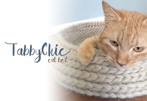 Free Crochet Cat Bed Patterns to make, cat caves, donuts, pouffes ... | 327x474