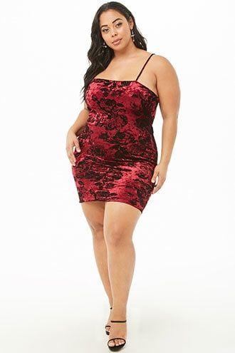58ee9c6382 Plus Size Velvet Rose Dress