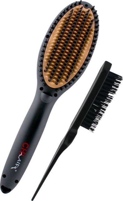Procabello Hair Straightener Detangling Brush Ceramic Tourmaline Coating Walmart Com Straightening Brush Electric Hair Brush Detangling Brush