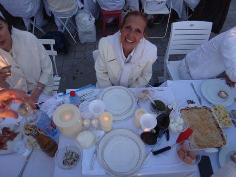 Danielle Steel at White Dinner, Paris