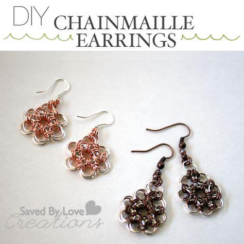 Make Lovely Chain Maille Earrings