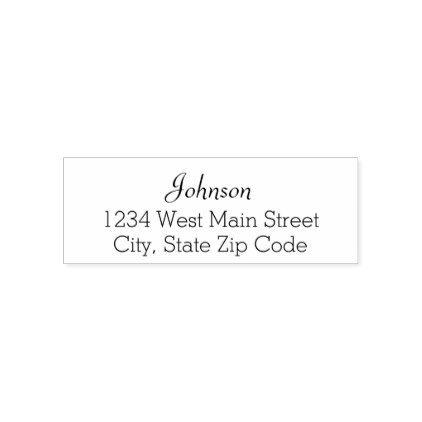 simple return address label self inking stamp return address gifts